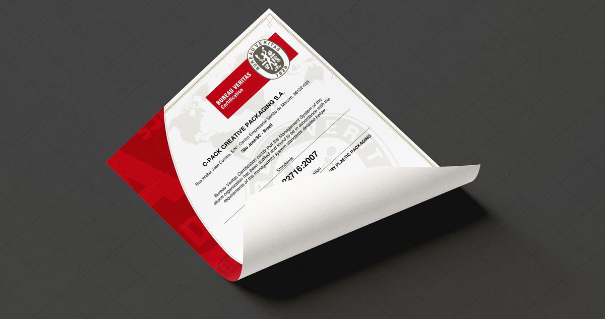 Certificação na Norma ISO 22.716